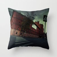 surrealism Throw Pillows featuring surrealism by Chirko.Roman