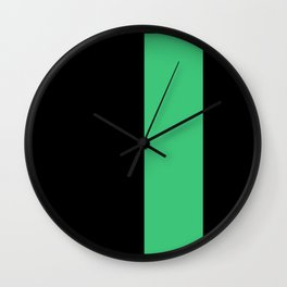 backpack — black with green Wall Clock