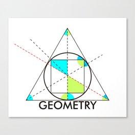 geometry mathematics trigonometry shapes text Canvas Print