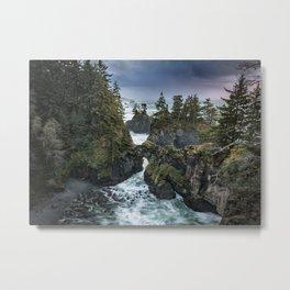 Oregon's Natural Bridges at sunset Metal Print