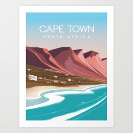 Cape town south africa poster Art Print