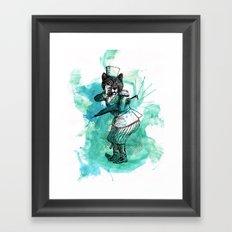 Carnival Bear Time Traveler Framed Art Print
