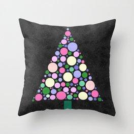 Christmas Tree Marble Throw Pillow