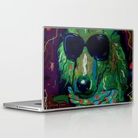 poodle Laptop & iPad Skins featuring Green Poodle by Juliette Caron