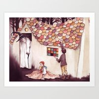 Nibble, nibble, gnaw - From Hansel and Gretel - As recorded by the Brothers Grimm Art Print