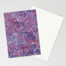 Purple swirls doodles Stationery Cards