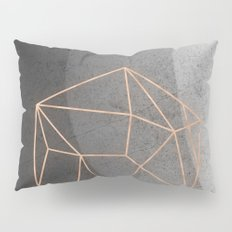 Geometric Solids on Marble Pillow Sham
