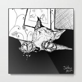 Bullterrier sleeping Metal Print