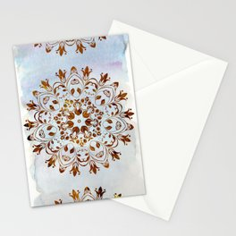 golden mandala design Stationery Cards