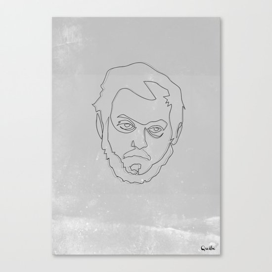 One line Stanley Kubrick Canvas Print