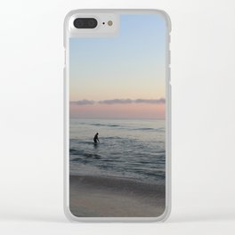 Morning Surf Clear iPhone Case