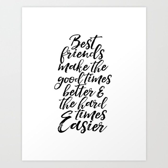 graphic regarding Printable Print known as Typography Print Quotations Artwork Print PRINTABLE Artwork Enjoy Indicator BFF Presents Easiest Good friends Present Pals Quotations Artwork Print by way of milos955