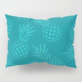 Pineapple Pattern - Teal on Teal Pillow Sham