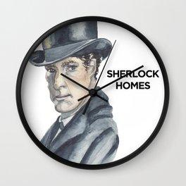 Sherlock Homes Fan Art Portrait Wall Clock