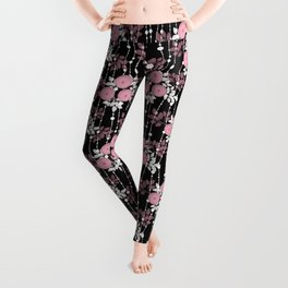 Abstract floral pattern. Leggings