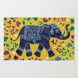 Blue Elephant Rug