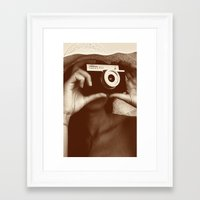 photographer Framed Art Prints featuring Photographer by XfantasyArt