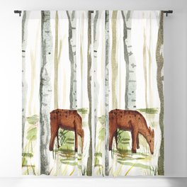 Doe in Aspens Blackout Curtain