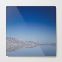 Salt Flat Reflections Metal Print