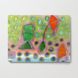 Colorful Kites Metal Print