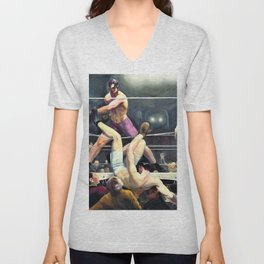 George Wesley Bellows - Dempsey And Firpo - Digital Remastered Edition Unisex V-Neck