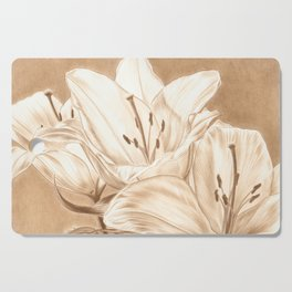 Lilies Cutting Board