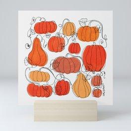 Pumpkins and Vines Mini Art Print
