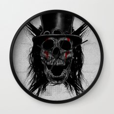 Skull Hat Wall Clock
