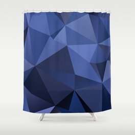Abstract of triangles polygon in navy blue colors Shower Curtain