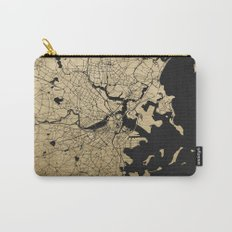 Boston Black and Gold Map Carry-All Pouch
