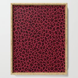 DEEP RED LEOPARD PRINT – Burgundy Red   Collection : Punk Rock Animal Prints. Serving Tray