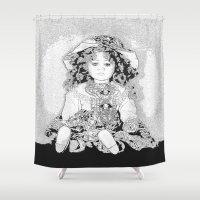 doll Shower Curtains featuring Lovely Doll by Päivi Vikström