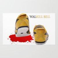 kill bill Area & Throw Rugs featuring Walkill Bill by Davann Creations