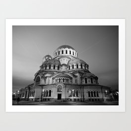 Alexander Nevsky Cathedral Church Art Print