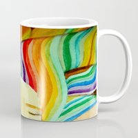 grace Mugs featuring grace by sylvie demers