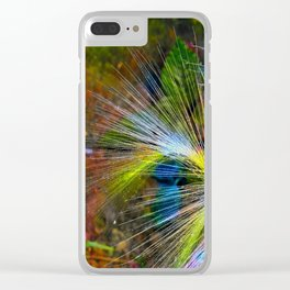 Grass on a background of dark sky Clear iPhone Case