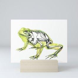 Frog Skeleton Mini Art Print