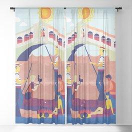 Venice Italy 7 Sheer Curtain
