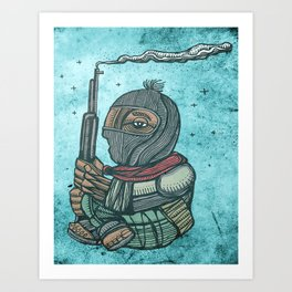 Zapatist mexican soldier Art Print