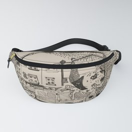 Fire Truck Dog Fanny Pack