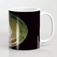 planet Mugs featuring Planet by Goga