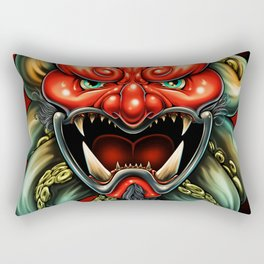Oni Mask Summer 12 Rectangular Pillow