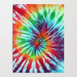 Tie Dye Hippie Poster