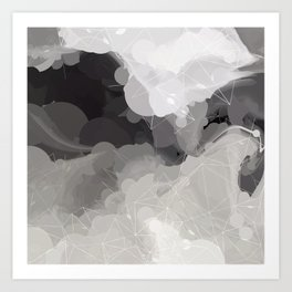 Modern Pattern Black White Design Art Print