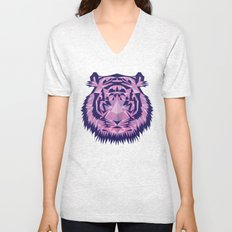 Purple Tiger Unisex V-Neck