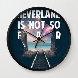 Take Me To Neverland Wall Clock