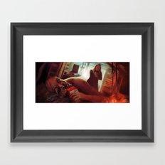 Coffee Fringe Style Framed Art Print