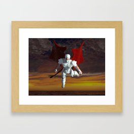 White Soldier Framed Art Print
