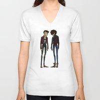 cargline V-neck T-shirts featuring punk zayn and harry by cargline