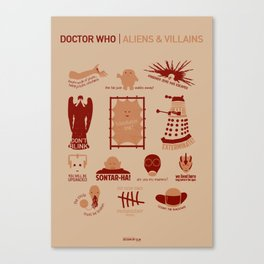 Doctor Who  Aliens & Villains Canvas Print
